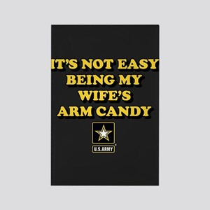 U.S. Army Being My Wife's Arm Can Rectangle Magnet