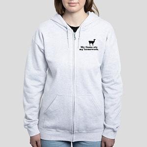 Funny Llama Women's Zip Hoodie
