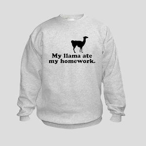 Funny Llama Kids Sweatshirt