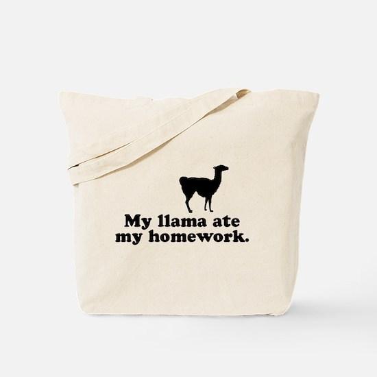 Funny Llama Tote Bag