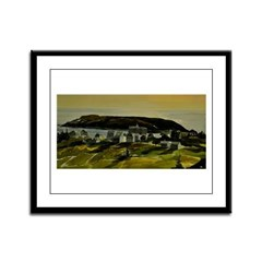 Monhegan,Maine- View of the Village Framed Panel P