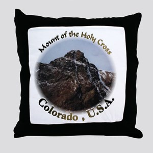 Mount of the Holy Cross Color Throw Pillow