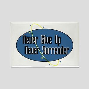 Never Surrender Rectangle Magnet