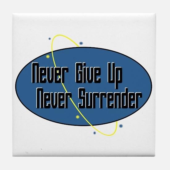 Never Surrender Tile Coaster