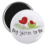 birdie big sister to be christmas shirt Magnet