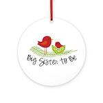 birdie big sister to be christmas shirt Ornament (