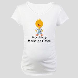 Veterinary Medicine Chick Maternity T-Shirt
