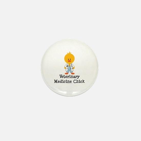 Veterinary Medicine Chick Mini Button