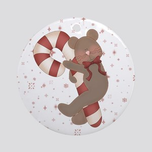 Candycane Mouse Ornament (Round)