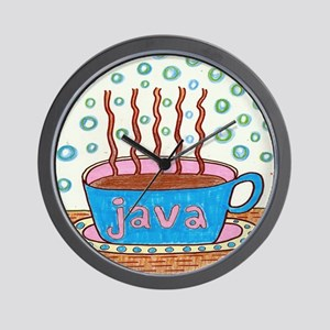 Java Coffee Lovers Wall Clock