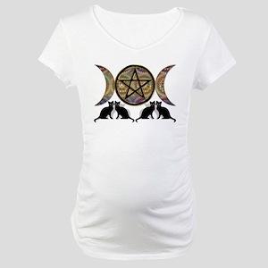 Crystal Ball Pentagram Maternity T-Shirt