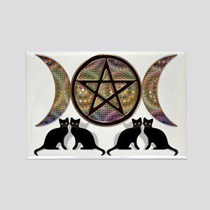 Crystal Ball Pentagram Rectangle Magnet