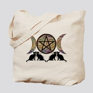 Crystal Ball Pentagram Tote Bag