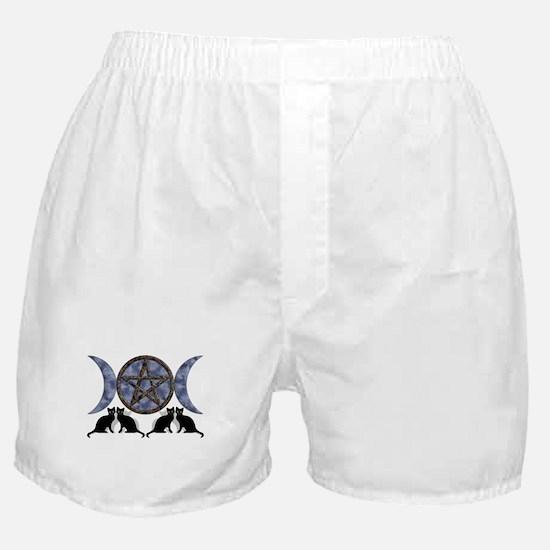 Mystic Blue Pentagram Boxer Shorts