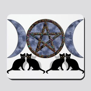 Mystic Blue Pentagram Mousepad