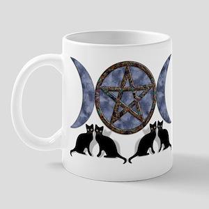 Mystic Blue Pentagram Mug