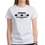 Elephants Don't Belong - Women's T-Shirt