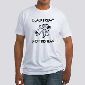 BLACK FRIDAY SHOPPING TEAM Fitted T-Shirt