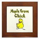 Maple Grove Chick Framed Tile