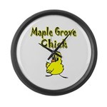 Maple Grove Chick Large Wall Clock