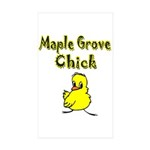 Maple Grove Chick Rectangle Sticker 10 pk)