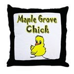 Maple Grove Chick Throw Pillow
