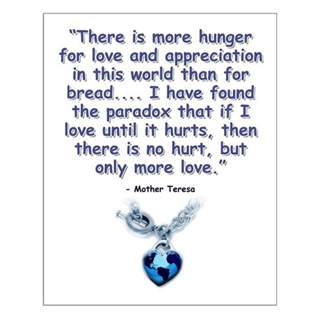 Mother Teresa Love Small Poster