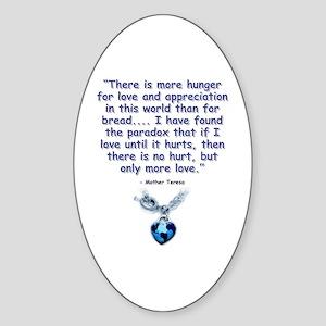 Mother Teresa Love Oval Sticker
