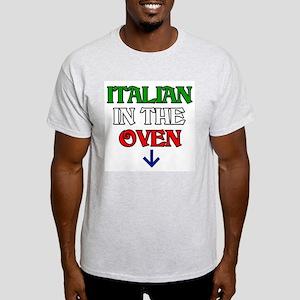Italian In The Oven Ash Grey T-Shirt