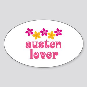 Pretty Jane Austen Oval Sticker
