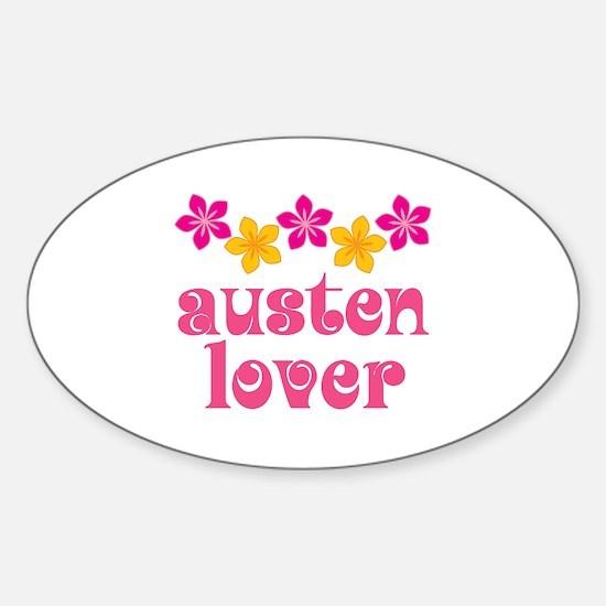 Pretty Jane Austen Oval Decal