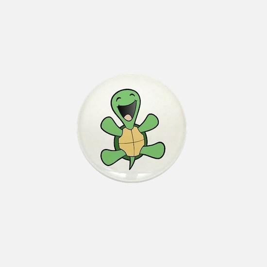 Happy Turtle Mini Button
