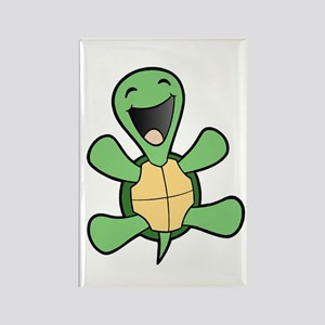 Happy Turtle Rectangle Magnet