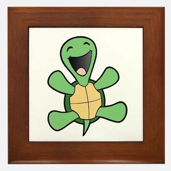 Happy Turtle Framed Tile
