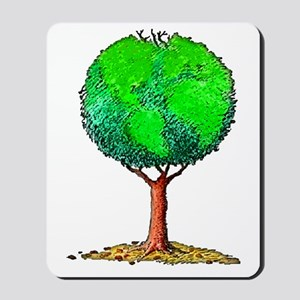 Tree Globe Mousepad