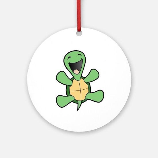 Happy Turtle Ornament (Round)