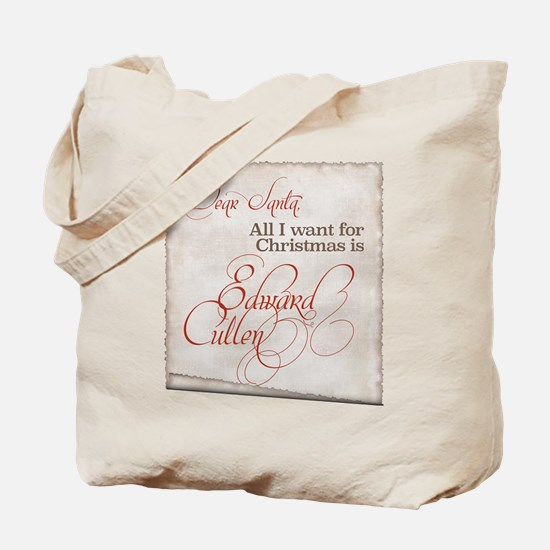 All I Want Edward Christmas Tote Bag