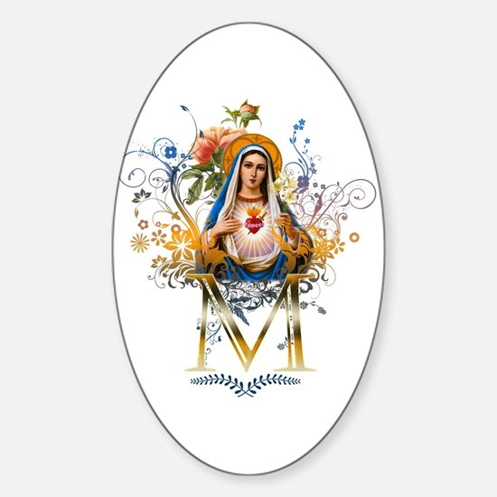 Immaculate Heart of Mary Sticker (Oval)