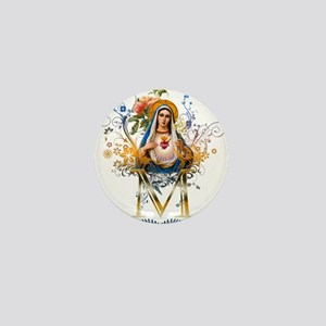 Immaculate Heart of Mary Mini Button