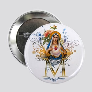 """Immaculate Heart of Mary 2.25"""" Button"""