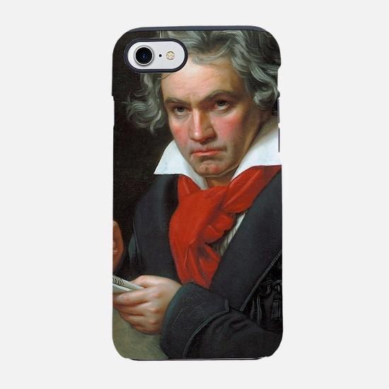 Vintage portrait of composer,  iPhone 7 Tough Case