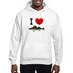 I Love Walleye Hooded Sweatshirt