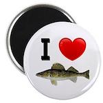 I Love Walleye Magnet