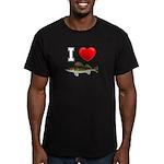 I Love Walleye Men's Fitted T-Shirt (dark)