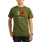 I Love Walleye Organic Men's T-Shirt (dark)