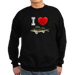 I Love Walleye Sweatshirt (dark)
