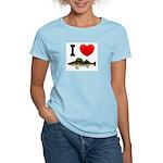 I Love Walleye Women's Light T-Shirt