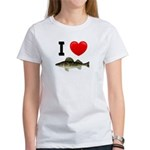 I Love Walleye Women's T-Shirt