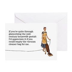 Housework Greeting Card