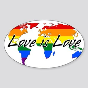 Gay Pride Love Is Love Worldwide Sticker
